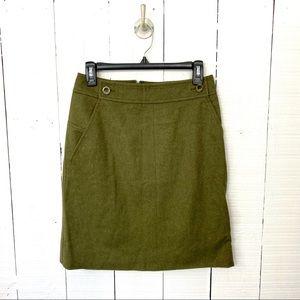 Reed Krakoff wool pencil skirt green